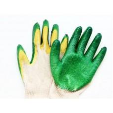 Перчатки х/б с латексом (двойной облив)