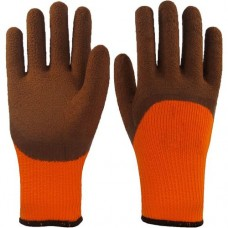 Перчатки нейлоновые со вспененным покрытием утепленные (полный облив)