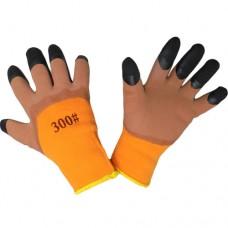 Перчатки акриловые со вспененным латексом утепленные (полный облив)